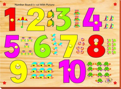 Kinder Creative Puzzles Kinder Creative Number Board with Knobs