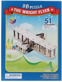 Magic Puzzle The Wright Flyer 3D Puzzle - 51 Pieces