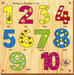 Kinder Creative Puzzles Kinder Creative Picture on Number with Knobs