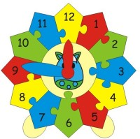 Skillofun Skillofun Skillofun Construct Your Clock  Cow