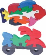 Enigmatic Woodworks Puzzles Enigmatic Woodworks Wooden Jigsaw Puzzle Big Fish + Bike