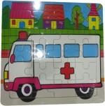 DCS Puzzles DCS DCS Wooden Ambulance Puzzles