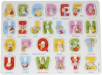Baybee Wooden Alphabet Puzzle With Knobs (Capital Letters) (26 Pieces)
