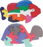 Enigmatic Woodworks Puzzles Enigmatic Woodworks Wooden Jigsaw Puzzle Big Fish + Tortoise