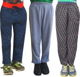Shaun Printed Girl's Dark Blue, Grey, Black Track Pants
