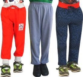 Shaun Printed Girl's Red, Dark Blue, Grey Track Pants