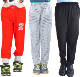 Shaun Printed Girl's Red, Black, Grey Track Pants