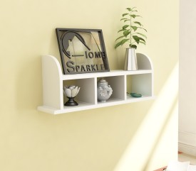 Home Sparkle Straight MDF Wall Shelf