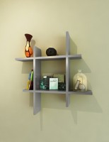 Homedesires MDF Wall Shelf (Number Of Shelves - 2, Silver)