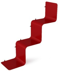 Cosmosgalaxy Metal Shelves Red Stainless Steel Wall Shelf
