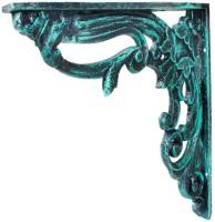 Karara Mujassme 1 Cast Aluminium Spandrels/L-Bracket Aluminium Wall Shelf (Number Of Shelves - 1, Green)