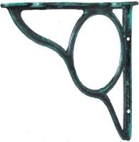 Karara Mujassme Cast Aluminium Spandrel Aluminium Wall Shelf (Number Of Shelves - 1, Green)
