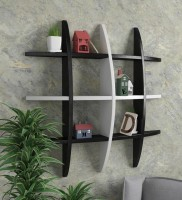Artesia Wooden Wall Shelf (Number Of Shelves - 1, Black, White)
