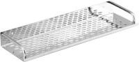 Sens 16 Inch Durable Stainless Steel Wall Shelf (Number Of Shelves - 1, Silver)