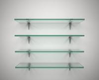 SDG Glass, Brass Wall Shelf (Number Of Shelves - 4, Clear)