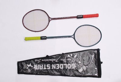 Golden Star Kitkat G4 Strung Badminton Racquet (Blue, Red, Weight - 350 g)