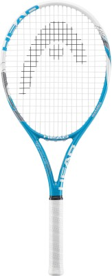 Head MX Pro Lite G3 Strung Tennis Racquet (White,Blue, Weight - 270)