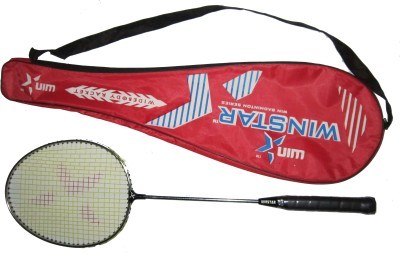 WINSTAR NICKLE CHROME G4 Strung Badminton Racquet (Silver, Weight - 99 g)
