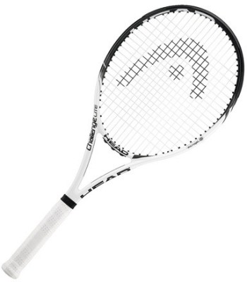 Head Microgel Challenge Lite G2 Strung Tennis Racquet (White, Black, Weight - 260)