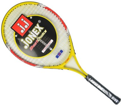 Jonex Star 25 Standards Unstrung Tennis Racquet (Yellow, Red, White, Weight - 300 g)