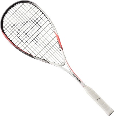 Dunlop Biomimetic Evolution 120 HL Standard Strung Squash Racquet (White, Weight - 120g)