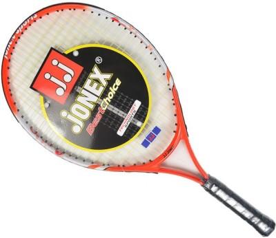 Jonex Groovy 23 Power Standards Unstrung Tennis Racquet (Orange, White, Weight - 300 g)