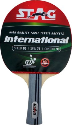 Stag International Table Tennis Racquet with Case (Weight - 81 g)