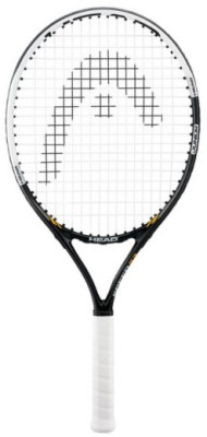 Head Speed 23 3 7/8 Strung Tennis Racquet (Black, White, Weight - 215)