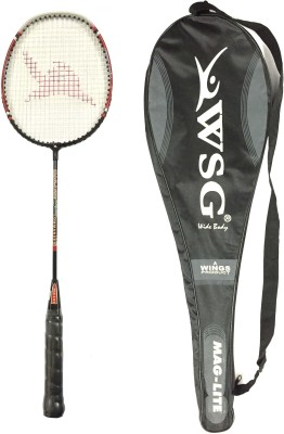 WSG Maglite Strung Badminton Racquet (Multicolor, Weight - 110 g)