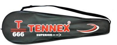 Tennex Badminton Racket T666 Strung Badminton Racquet (Pink, Weight - 214)