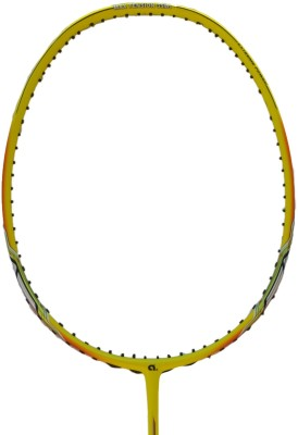 APACS FINAPI 432 Badminton Racquet with Leather Cover G1 Strung Badminton Racquet (Yellow, Weight - 80 g)