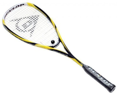 Dunlop Blackstorm Graphite G4 Strung Squash Racquet (Yellow, Black, Weight - 135 g)