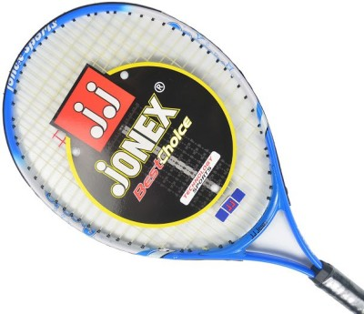 Jonex Groovy 23 Power Standards Unstrung Tennis Racquet (Blue, White, Weight - 300 g)