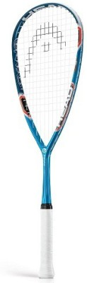 Head Graphene Cyano 135 G4 Strung Squash Racquet (Blue, White, Weight - 135 g)