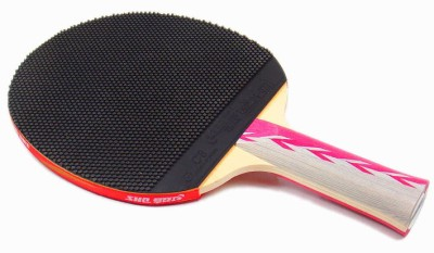 Double Happiness A4003 G4 Strung Table Tennis Paddle (Black, Red, Weight - 3U)