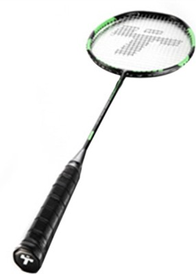 Thwack Counter Strike Standard Strung Badminton Racquet (Black, Green, Weight - 3U)
