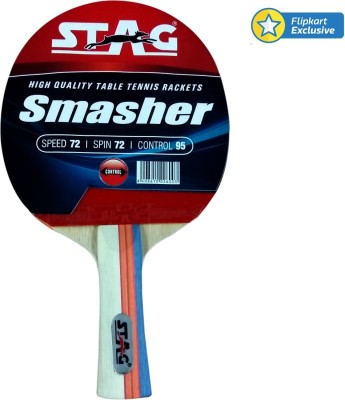 Stag Smasher Table Tennis Racquet (Blue, Red, Weight - 185 g)
