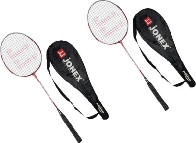 JJ JONEX AYUSH SET of 2 Strung Badminton Racquet (Multicolor, Weight - 220 g)