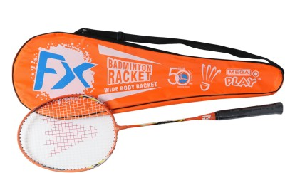 Megaplay FX R1 G4 Strung Badminton Racquet (Orange, Weight - 90 g)