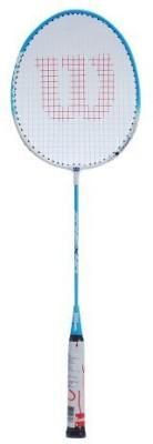 Wilson Zone 40 SL3 Strung Badminton Racquet (Blue, White, Weight - 110 g)