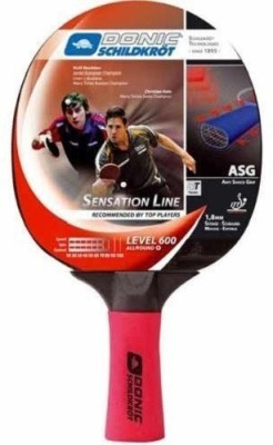 Donic Sensation 600 Table Tennis Racquet (Red, Black, Weight - 200 g)