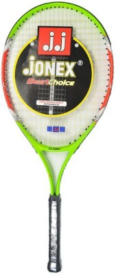 Jonex Star 25 Standards Unstrung Tennis Racquet (Green, Orange, White, Weight - 300 g)