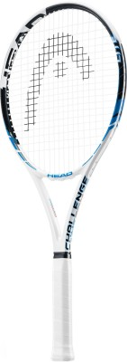Head YouTek Challenge lite G3 Strung Badminton Racquet (White, Black, Weight - 3U)