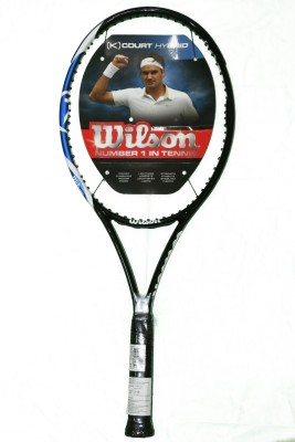Wilson K Court Hybrid 4 3/8 Unstrung Tennis Racquet (Black, Weight - 288)