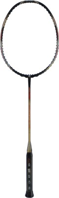 APACS Feather Weight 75 WITH Leather Cover G0 Unstrung Badminton Racquet (Gold, Weight - 75 g)