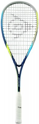 Dunlop Biomimetic Evolution 130 Hl G4 Strung Squash Racquet (Blue, Yellow, Weight - 130 g)
