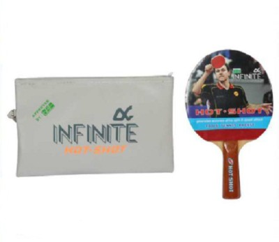 INFINITE HIGH QUALITY HOT SHOT Unstrung Table Tennis Racquet (Red, Black, Weight - 150 g)