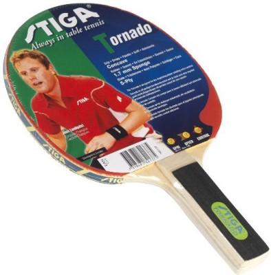Stiga Tornado Unstrung Table Tennis Racquet (Red, Black, Weight - 50 g)