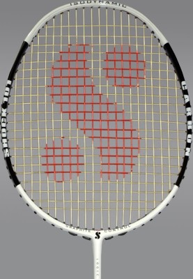 Silver's Shock-101 G3 Strung Badminton Racquet (White, Black)