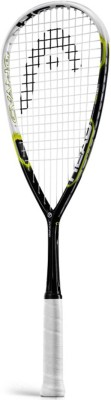 Head Graphene Cyano 115 G4 Strung Squash Racquet (White, Black, Weight - 115 g)